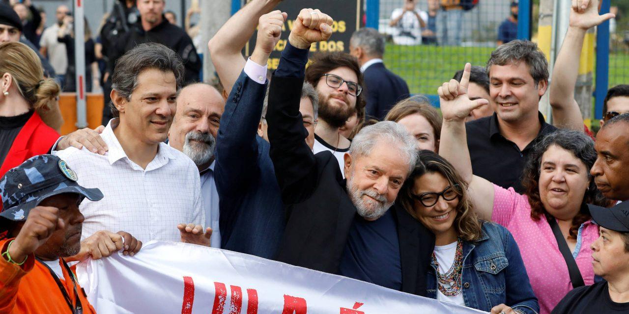 """<span class=""""entry-title-primary"""">Lula saiu da cadeia por decisão do Supremo Tribunal Federal</span> <span class=""""entry-subtitle"""">Amanhã fará um discurso no sindicato dos metalúrgicos em São Paulo</span>"""