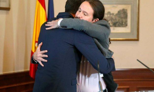 """<span class=""""entry-title-primary"""">PSOE e Podemos selam o primeiro governo de coalizão</span> <span class=""""entry-subtitle"""">Pedro Sánchez e Pablo Iglesias combinam uma nova metodologia de negociação</span>"""