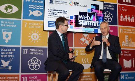 """<span class=""""entry-title-primary"""">Tony Blair: """"Espero que não aconteça o Brexit""""</span> <span class=""""entry-subtitle"""">Participou da Web Summit em Lisboa, a feira tecnológica mais importante do ano</span>"""