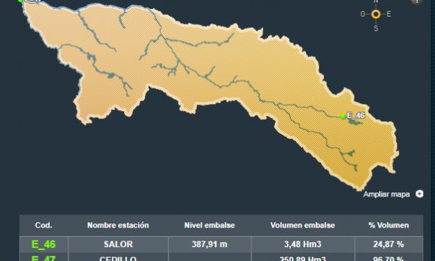 Las lluvias llenan las presas del Tajo en La Raya