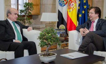 """<span class=""""entry-title-primary"""">Extremadura (espanhola) está comprometida com o projeto bilíngue Escola de Fronteira</span> <span class=""""entry-subtitle"""">Esta iniciativa da Organização de Estados Ibero-Americanos (IEO) foi discutida no encontro entre Jabonero e Fernández Vara </span>"""