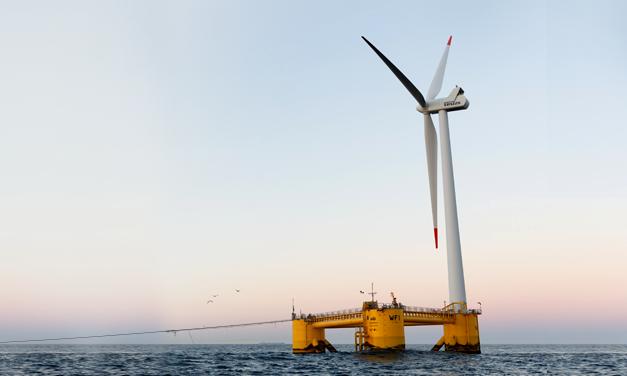 Comienza a verter electricidad a la red portuguesa un parque eólico flotante ibérico