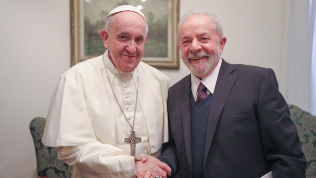 """<span class=""""entry-title-primary"""">Lula visita al Papa y le agradece su solidaridad</span> <span class=""""entry-subtitle"""">En este encuentro iberófono, entre un brasileño y un argentino, se abordó los temas de desigualdad, pobreza y defensa del medio ambiente</span>"""