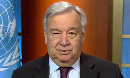 """<span class=""""entry-title-primary"""">Guterres apela a la solidaridad para hacer frente a la pandemia y a la crisis climática en 2021</span> <span class=""""entry-subtitle"""">El secretario general de la ONU ha asegurado que """"se atisban rayos de esperanza""""</span>"""