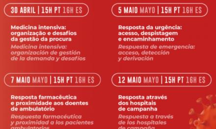 """<span class=""""entry-title-primary"""">Portugal y España comparten conocimientos en la lucha contra el coronavirus</span> <span class=""""entry-subtitle"""">Un ciclo de webinars pretende «dar una visión intrahospitalaria y extrahospitalaria» de la gestión de la crisis</span>"""