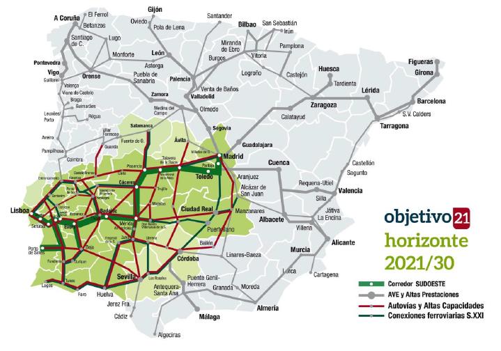 """<span class=""""entry-title-primary"""">O comboio de alta velocidade Lisboa-Madrid caminha para duas décadas perdidas</span> <span class=""""entry-subtitle"""">A plataforma """"Sudoeste Ibérico en Redes"""" propõe que a Cimeira Ibérica da Guarda assuma o compromisso de uma linha de comboio a diesel adicional que ligue Lisboa a Madrid até 2021 por Badajoz</span>"""