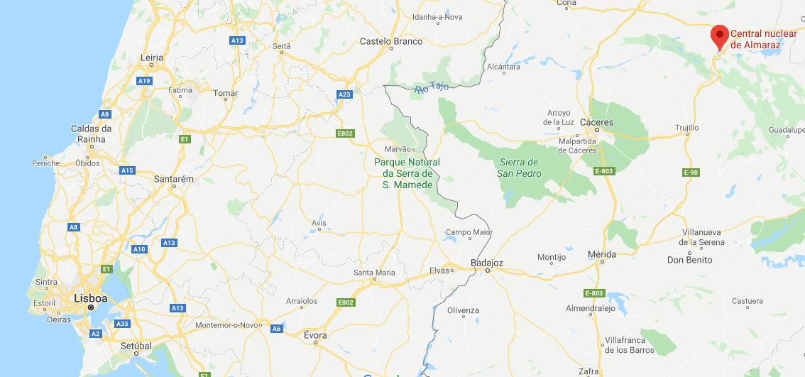 "<span class=""entry-title-primary"">Central nuclear de Almaraz sofre segundo incidente em cinco dias</span> <span class=""entry-subtitle"">A central de Almaraz está situada junto ao rio Tejo e faz fronteira com os distritos portugueses de Castelo Branco e Portalegre</span>"