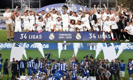 """<span class=""""entry-title-primary"""">Novos campeões na Península Ibérica!</span> <span class=""""entry-subtitle"""">Porto e Real de Madrid sagraram-se campeões em Portugal e Espanha</span>"""