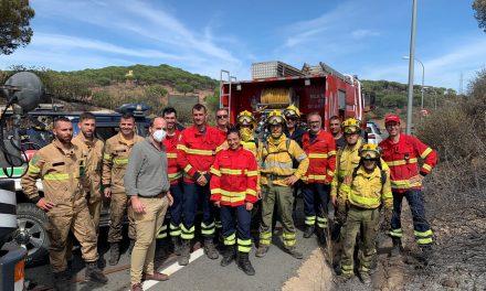 """<span class=""""entry-title-primary"""">A Eurocidade do Guadiana orgulha-se da colaboração ibérica para a extinção de um fogo em Ayamonte</span> <span class=""""entry-subtitle"""">Bombeiros de Portugal e Espanha trabalharam juntos</span>"""