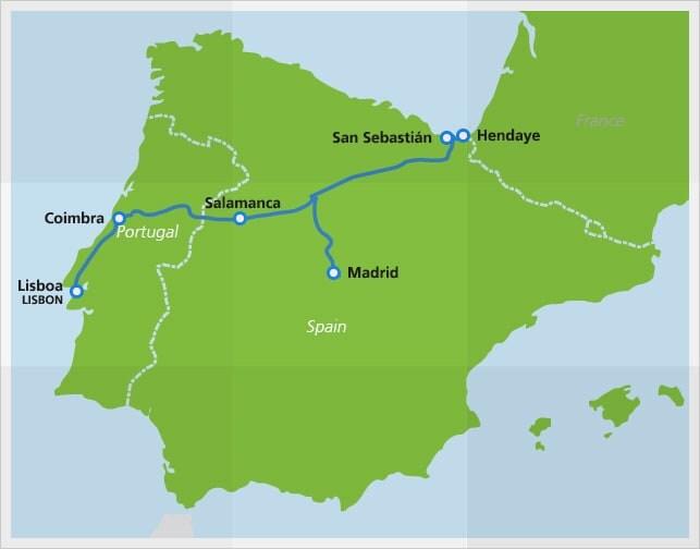 """<span class=""""entry-title-primary"""">CP sem data para retomar ligações internacionais a Madrid e Hendaye</span> <span class=""""entry-subtitle"""">Portugal ainda não sabe quando serão retomadas as ligações ferroviárias dos comboios Lusitânia e Sud Expresso</span>"""