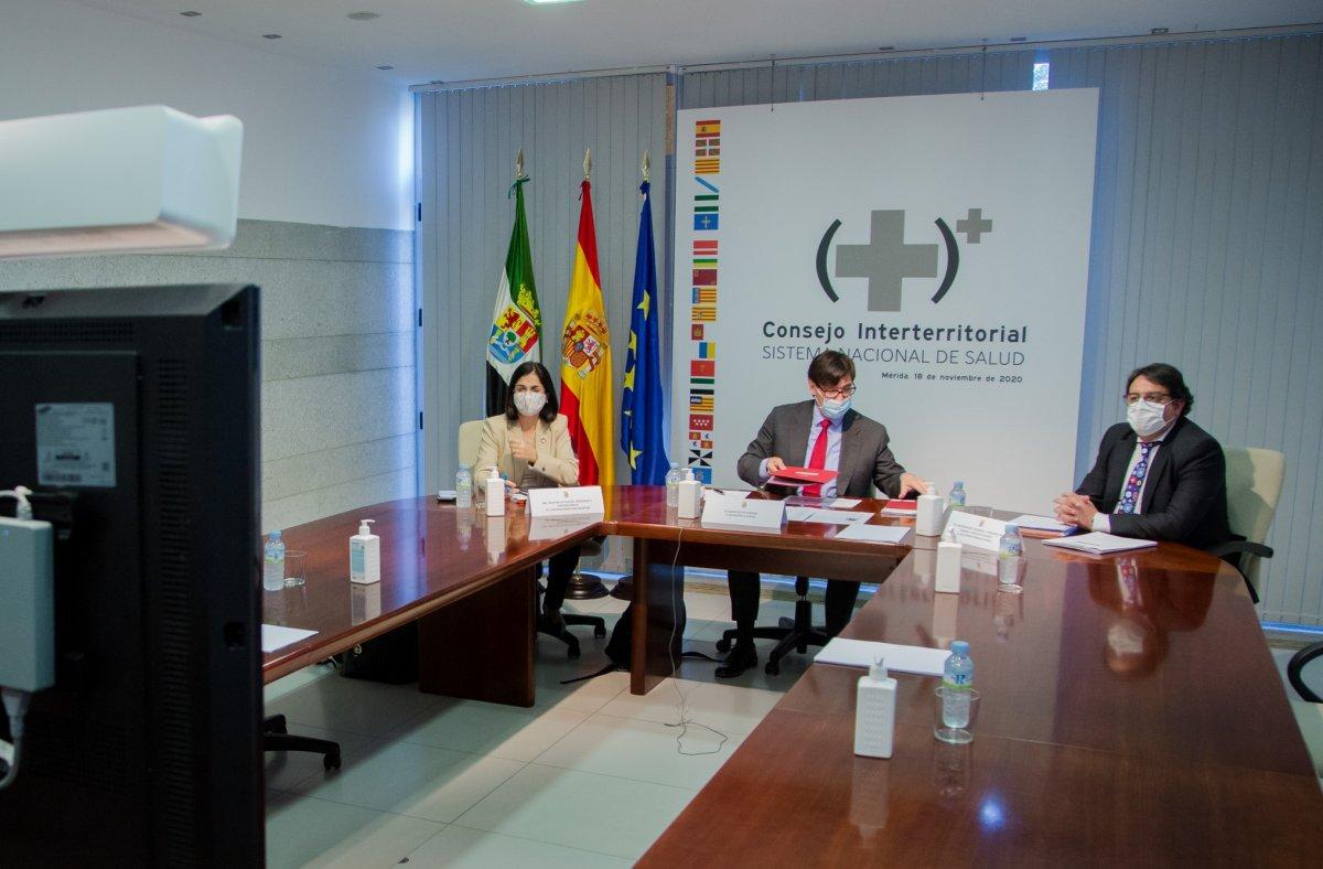 """<span class=""""entry-title-primary"""">España y Portugal acuerdan una comunicación «más fluida» para el «conocimiento mutuo» de la pandemia</span> <span class=""""entry-subtitle"""">La ministra portuguesa de Sanidad, Marta Temido, ha participado del Consejo Interterritorial español</span>"""