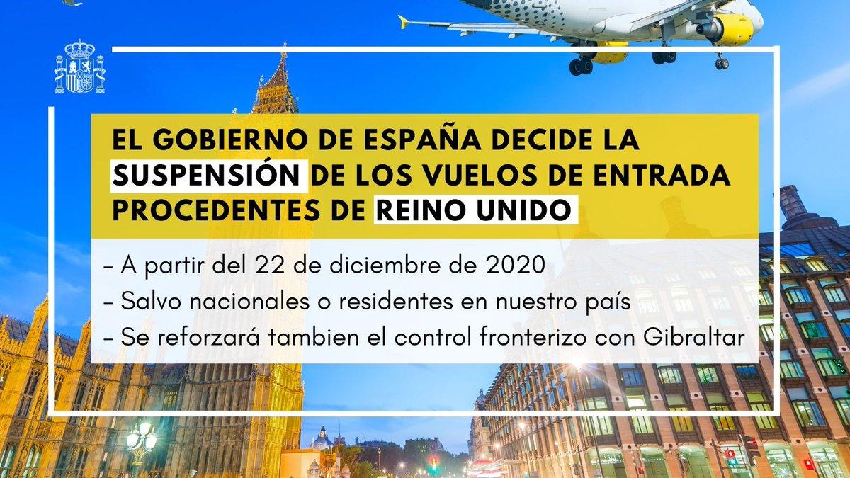 """<span class=""""entry-title-primary"""">España y Portugal deciden de manera conjunta suspender los vuelos procedentes de Reino Unido</span> <span class=""""entry-subtitle"""">La iniciativa ibérica supondrá también un fortalecimiento de los controles en el paso fronterizo de Gibraltar</span>"""