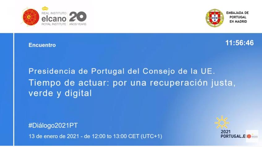 """<span class=""""entry-title-primary"""">[Vídeo] Intervenção de Ana Paula Zacarias no Real Instituto Elcano</span> <span class=""""entry-subtitle"""">Conferência: """"Presidência de Portugal do Conselho da UE. Tempo para agir: por uma recuperação justa, verde e digital""""</span>"""