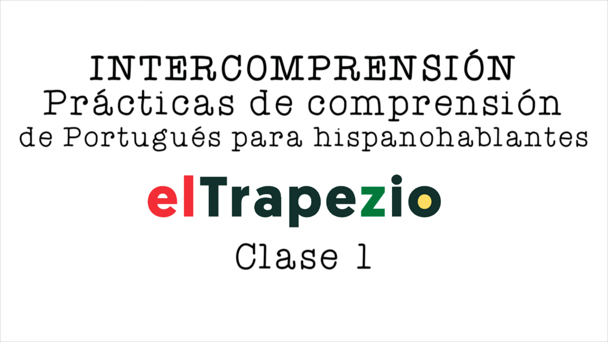 Curso de Intercompreensão espanhol-português