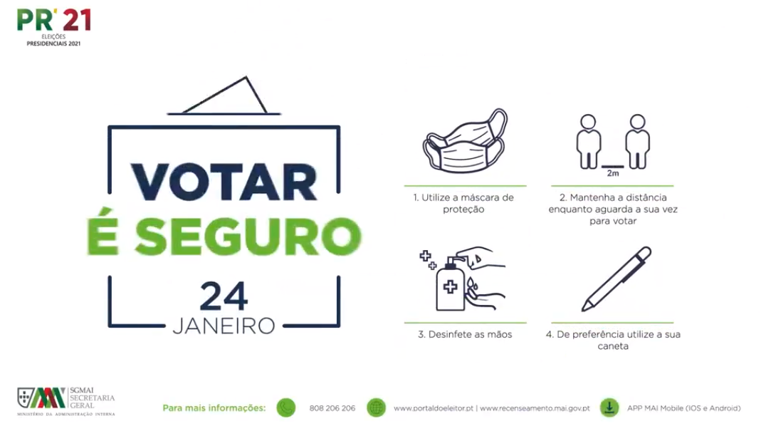Más de 200.000 portugueses votarán una semana antes del día de las elecciones