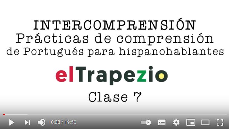 CLASE 7 – Curso de Intercomprensión español-portugués