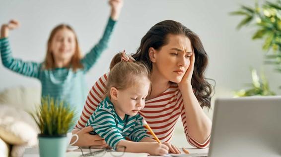 As famílias Ibéricas estão a stressar com as crianças em casa
