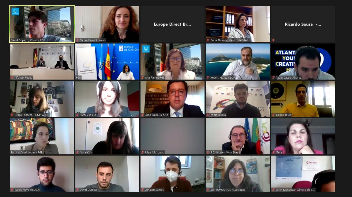 La Eurociudad Chaves-Verín celebra el Día de Europa con jóvenes de Galicia y del Norte de Portugal