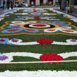As alfombras florais do «Corpus Christi» regresaron ás prazas ibéricas