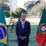 Comitivas lusa e brasileira encontraram-se no Palácio da Alvorada e destacaram-se de formas distintas